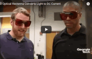 First Optical Rectenna – Combined Rectifier and Antenna – Converts Light to DC Current
