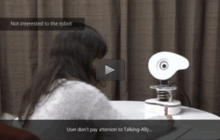 Robot adapts it's voice and gestures to keep your attention
