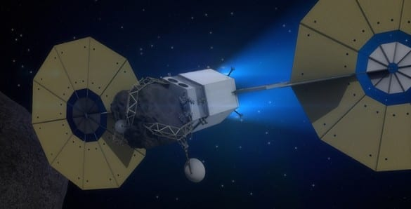 Concept of an asteroid redirect mission (NASA)