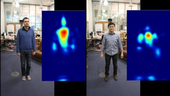 By seeing silhouettes through a wall, CSAIL device could help with motion capture, fall prevention and even your heating bill.