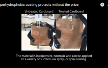 Superhydrophobic coating protects without the price