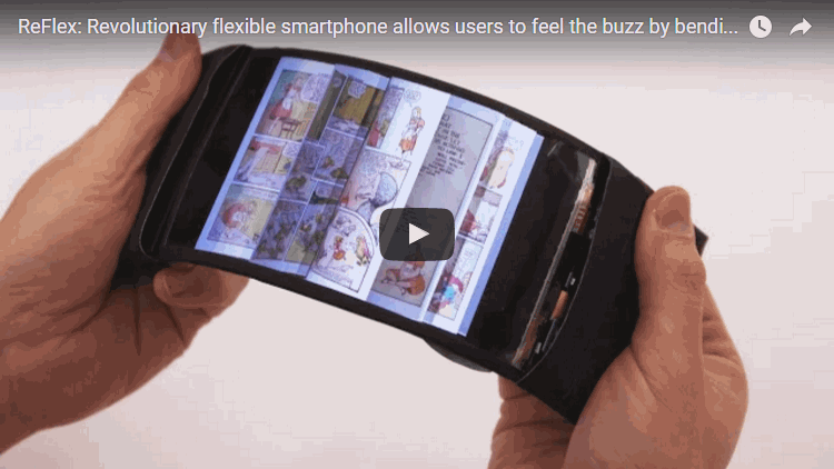 Revolutionary flexible smartphone allows users to feel the buzz by bending their apps