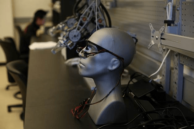Xiaoli Zhang, an engineer at Colorado School of Mines, is developing a gaze-controlled robotic system that works in three dimensions to enable people with motor impairments to fetch objects using eye movement. Credit: Xiaoli Zhang, Colorado School of Mines