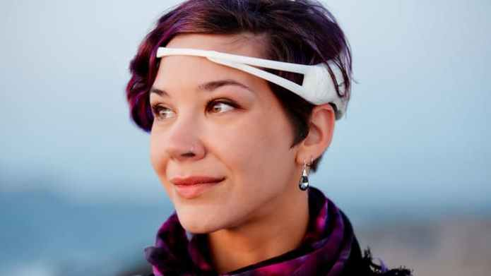 The Emotiv EEG headset and a companion app combine to turn thoughts into speech.