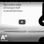 New surface makes oil contamination remove itself