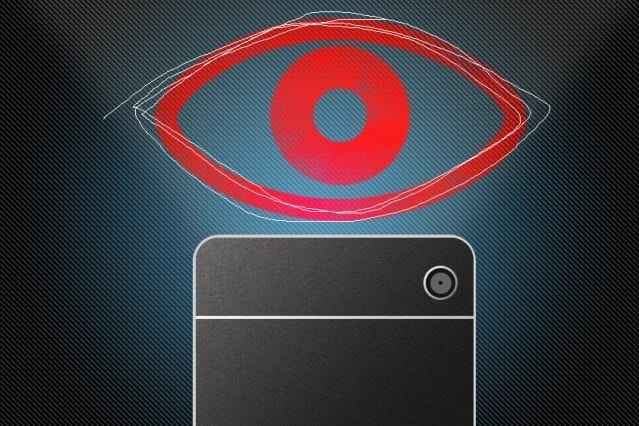 "Researchers developed a simple application for devices that use Apple's iOS operating system. The application flashes a small dot somewhere on the device's screen, attracting the user's attention, then briefly replaces it with either an ""R"" or an ""L,"" instructing the user to swipe either the right or left side of the screen. Correctly executing the swipe ensures that the user has actually shifted his or her gaze to the intended location. During this process, the device camera continuously captures images of the user's face. Illustration: Christine Daniloff/MIT"