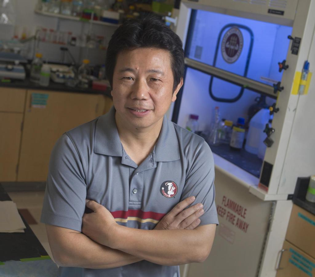 Hengli Tang is a professor of biological science at Florida State University. CREDIT Bill Lax/Florida State University