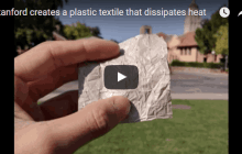 A plastic clothing material that cools the skin cutting the need for AC