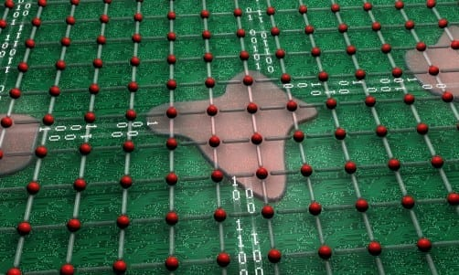 Credit: ORNL An ORNL study found that complex oxide materials can self-organize into electrical circuits, which creates the possibility for new types of computer chips.