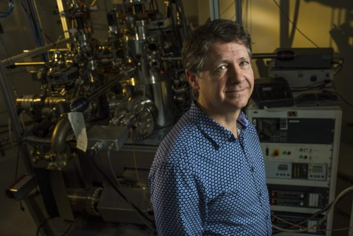 Robert Wolkow, University of Alberta physics professor and the Principal Research Officer at Canada's National Institute for Nanotechnology, has developed a technique to switch a single-atom channel. CREDIT John Ulan