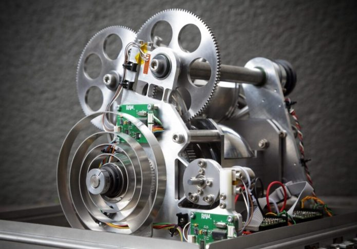 The robot's drive train including the dual-hemisphere system