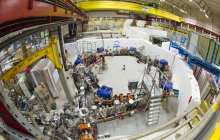 First ever measurement on the optical spectrum of an antimatter atom