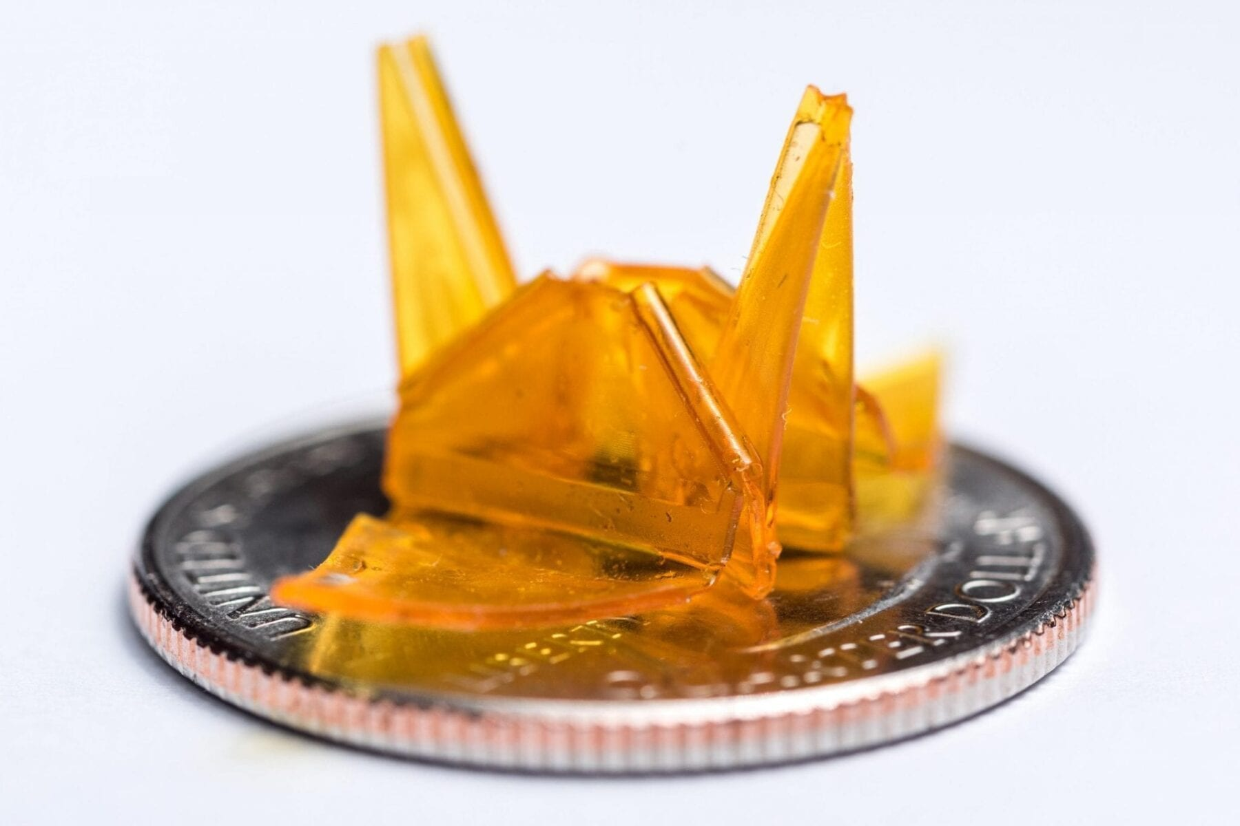 PowerPoint has a new job: Producing self-folding three-dimensional origami structures from photocurable liquid polymers