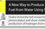 A new way to produce hydrogen from water uses no expensive metals and absorbs a wider range of sunlight