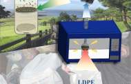 Increasing lithium-sulfur battery life span by using microwaved plastic