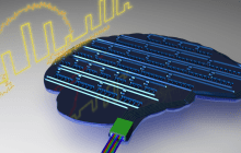 A light-based brain-like computing chip starts to come into focus