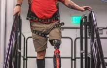 One of the world's first truly bionic legs