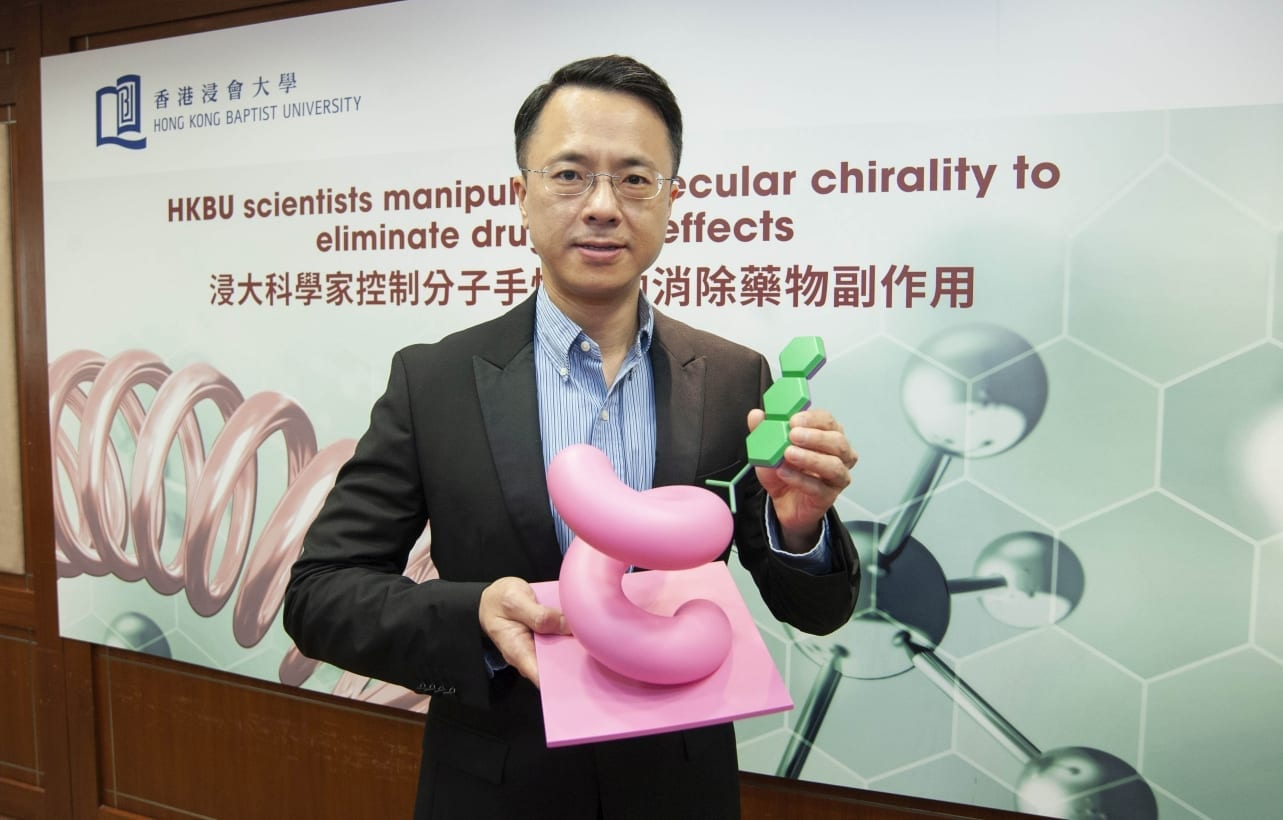 Dr Jeffery Huang Zhifeng, Associate Professor in the Department of Physics at HKBU, has designed the helical metal nanostructures to mediate the manipulation of the chirality of drug molecules.
