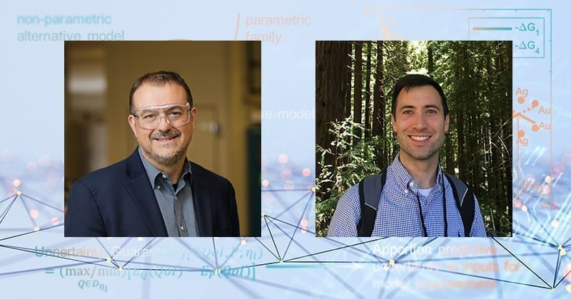 Prof. Dion Vlachos (left), director of UD's Catalysis Center for Energy Innovation, and Joshua Lansford, a doctoral student in UD's Department of Chemical and Biomolecular Engineering, are co-authors on the paper recently published in the journal Science Advances.