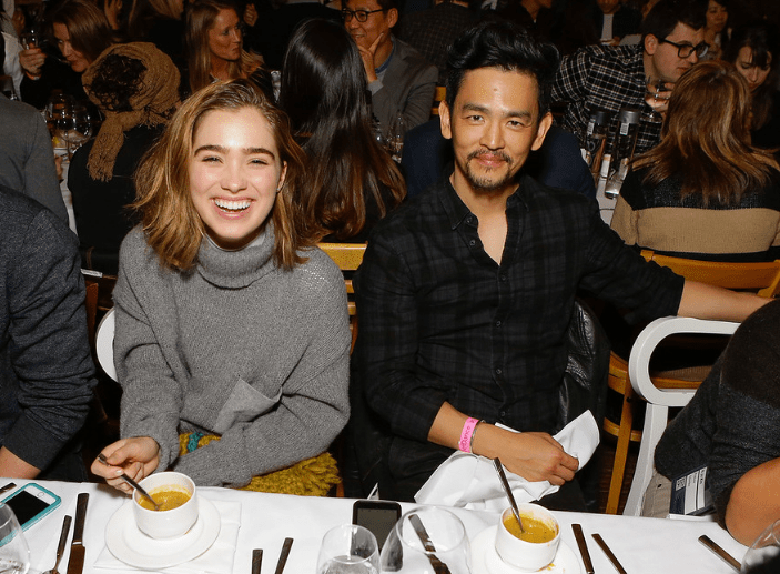 John Cho and a friend dining together at ChefDance 2017