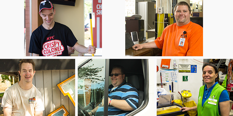 Photos of employment services participants that got new jobs in April