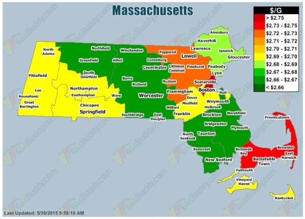 Massachusetts gas prices may 2015