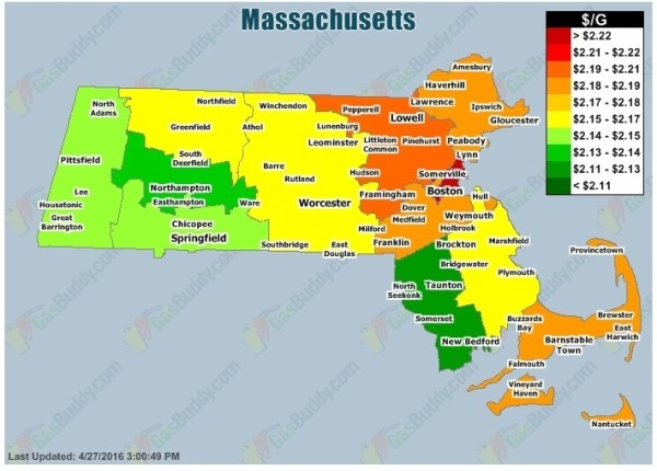 Massachusetts gas prices