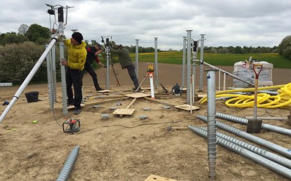 Screw foundation installation process for Dalifant small wind turbine 11kW