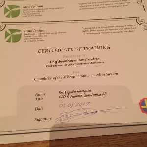 InnoVentum Training Certificates