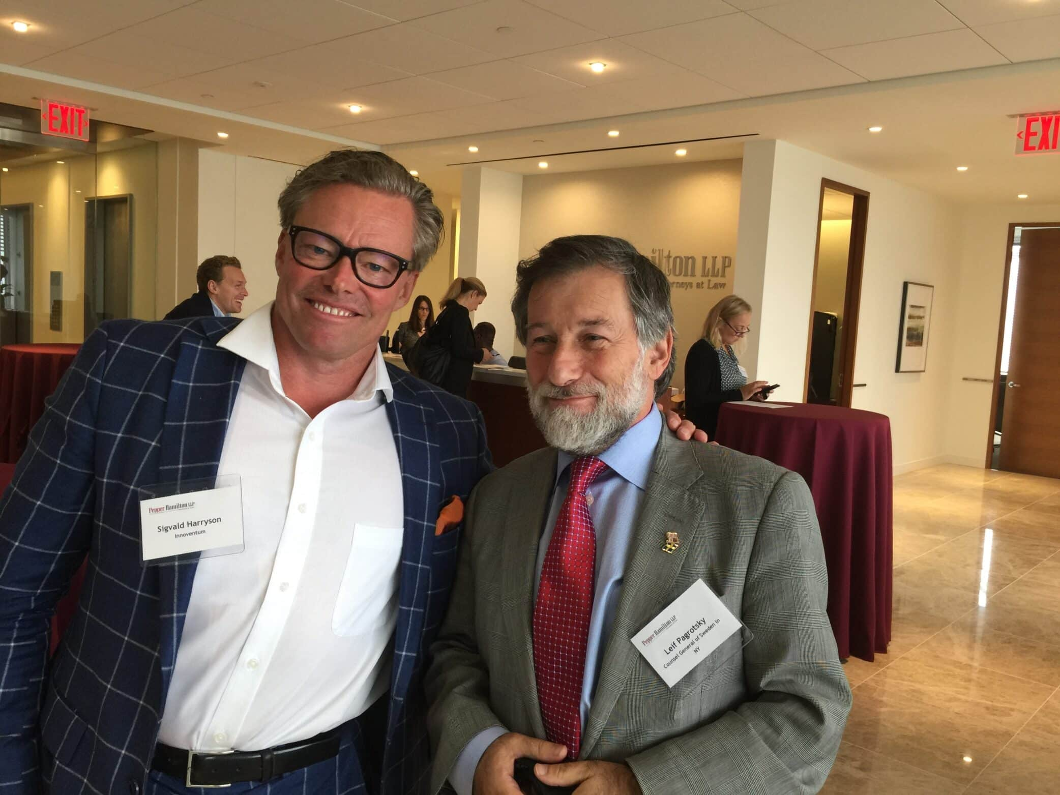 Our CEO Sigvald Harryson with Leif Pagrotsky