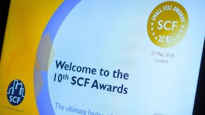 Photo of the invitation card for Small Cell Awards