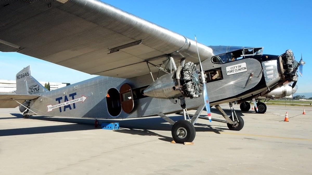 Tri-Motor Airplane