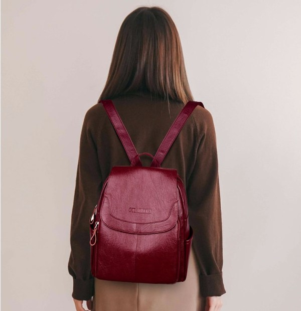 2019 Female Leather Backpacks High Quality Sac A Dos Ladies Bagpack Luxury Designer Large Capacity Casual 1 2019 Female Leather Backpacks High Quality Sac A Dos Ladies Bagpack Luxury Designer Large Capacity Casual Daypack Girl Mochilas