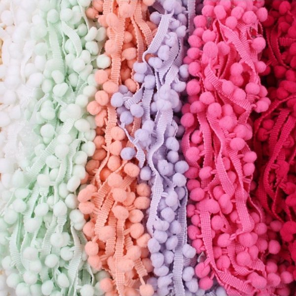 5 Yards Pom Pom Trim Ball 10 mm MINI Pearl Pompom Fringe Ribbon Sewing Lace Kintted 5 Yards Pom Pom Trim Ball 10 mm MINI Pearl Pompom Fringe Ribbon Sewing Lace Kintted Fabric Handmade DIY Craft Accessories