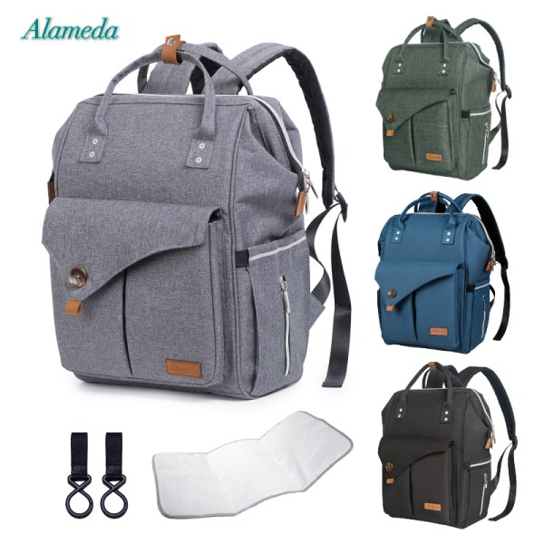 Alameda Fashion Mummy Maternity Bag Multi function Diaper Bag Backpack Nappy Baby Bag with Stroller Straps Alameda Fashion Mummy Maternity Bag Multi-function Diaper Bag Backpack Nappy Baby Bag with Stroller Straps for Baby Care