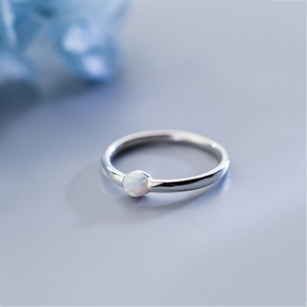 INZATT Genuine 925 Sterling Silver Color Round Opal Ring For Women Party Classic Minimalist Fine Jewelry 3 INZATT Genuine 925 Sterling Silver Color Round Opal Ring For Women Party Classic Minimalist Fine Jewelry Index Finger Hot Sale