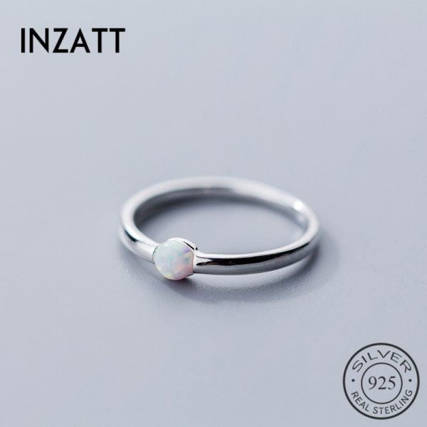 INZATT Genuine 925 Sterling Silver Color Round Opal Ring For Women Party Classic Minimalist Fine Jewelry INZATT Genuine 925 Sterling Silver Color Round Opal Ring For Women Party Classic Minimalist Fine Jewelry Index Finger Hot Sale