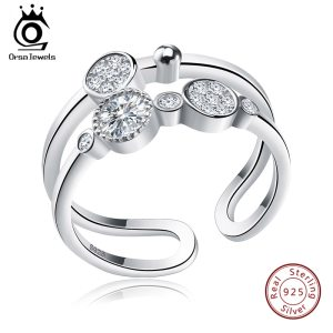 ORSA JEWELS Unique Bridal Set 925 Sterling Silver Resizable Classic Rings Fashion Band Propose Rings for Innrech Market.com