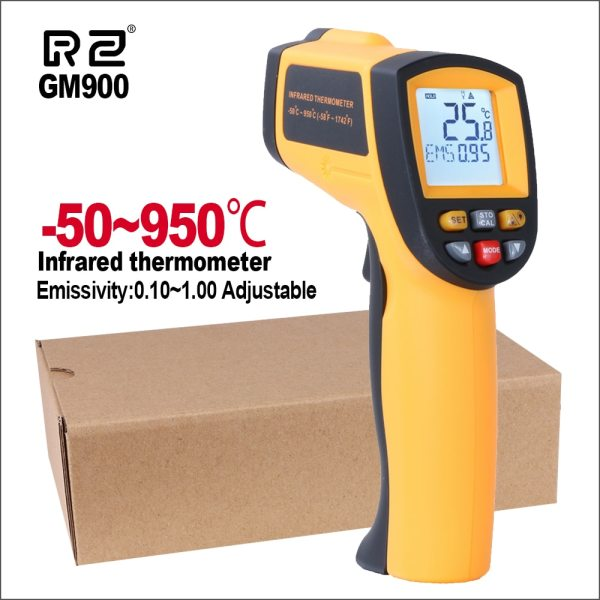 RZ IR Infrared Thermometer Thermal Imager Handheld Digital Electronic Outdoor Non Contact Laser Pyrometer Point Gun RZ IR Infrared Thermometer Thermal Imager Handheld Digital Electronic Outdoor Non-Contact Laser Pyrometer Point Gun Thermometer