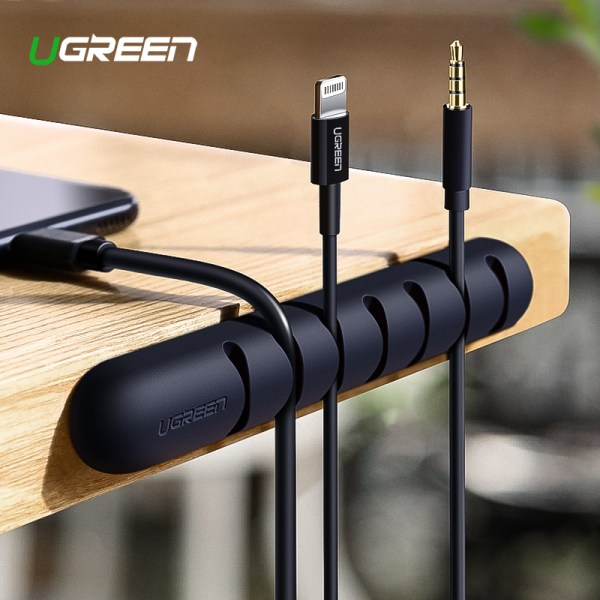 Ugreen Cable Organizer Silicone USB Cable Winder Flexible Cable Management Clips Cable Holder For Mouse Headphone Ugreen Cable Organizer Silicone USB Cable Winder Flexible Cable Management Clips Cable Holder For Mouse Headphone Earphone