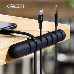 Ugreen Cable Organizer Silicone USB Cable Winder Flexible Cable Management Clips Cable Holder For Mouse Headphone Innrech Market.com
