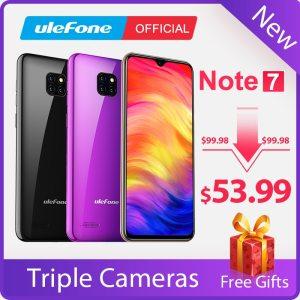 Ulefone Note 7 Smartphone 3500mAh 19 9 Quad Core 6 1inch Waterdrop Screen 16GB ROM Mobile Innrech Market.com