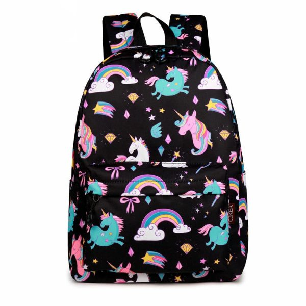 WINNER School Backpack Cartoon Rainbow Unicorn Design Water Repellent Backpack For Teenager Girls School Bags Mochila WINNER School Backpack Cartoon Rainbow Unicorn Design Water Repellent Backpack For Teenager Girls School Bags Mochila 2019