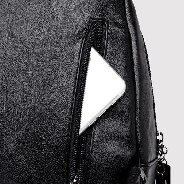 Women Leather Backpacks Zipper Female Chest Bag Sac a Dos Travel Back Pack Ladies Bagpack Mochilas 5 Women Leather Backpacks Zipper Female Chest Bag Sac a Dos Travel Back Pack Ladies Bagpack Mochilas School Bags For Teenage Girls
