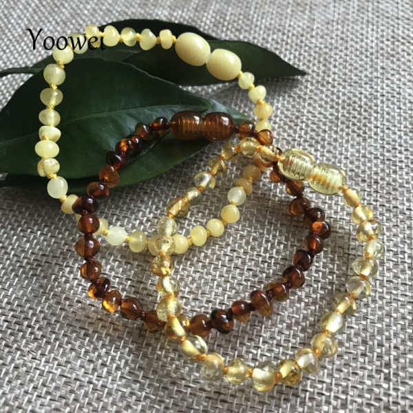 Yoowei Natural Amber Bracelet Anklet for Gift Women Amber Bracelet Baltic 4mm Small Beads Baby Teething 1 Yoowei Natural Amber Bracelet/Anklet for Gift Women Amber Bracelet Baltic 4mm Small Beads Baby Teething Custom Jewelry Wholesale