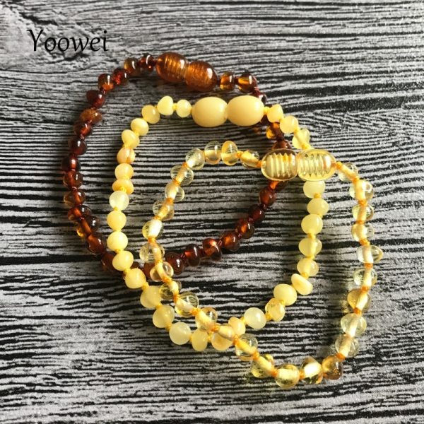 Yoowei Natural Amber Bracelet Anklet for Gift Women Amber Bracelet Baltic 4mm Small Beads Baby Teething 5 Yoowei Natural Amber Bracelet/Anklet for Gift Women Amber Bracelet Baltic 4mm Small Beads Baby Teething Custom Jewelry Wholesale