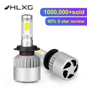 hlxg 2X 3000K H4 LED H7 H11 H8 HB4 H1 H3 HB3 Auto S2 Car Headlight Innrech Market.com