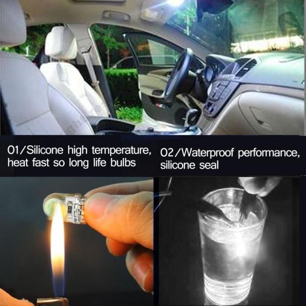 10Pcs Auto T10 Led Cold White 194 W5W LED 168 COB Silica Car Super Bright Turn 4 10Pcs Auto T10 Led Cold White 194 W5W LED 168 COB Silica Car Super Bright Turn Side License Plate Light Lamp Bulb DC 12V