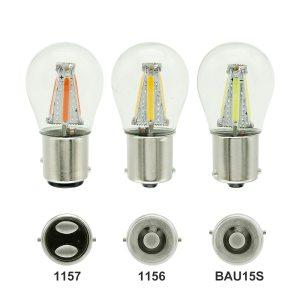 1pcs 1156 P21W BA15S 1157 BAY15D COB LED Filament Chip Car Brake Lights Auto Reverse Bulb Innrech Market.com