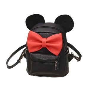 2018 New Mickey Backpack Pu Leather Female Mini Bag Women s Backpack Sweet Bow Teen Girls Innrech Market.com